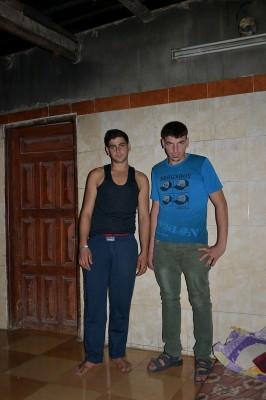 Mahmoud (left) and Saddam Abu Warda. (Photo by Rosa Schiano)