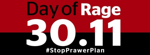 Day of Rage against the Prawer Plan.