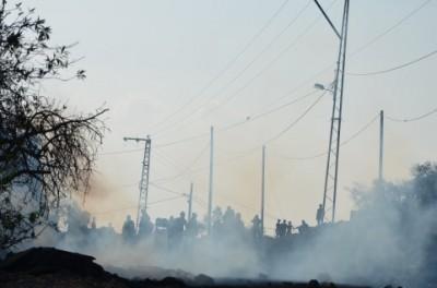 A cloud of tear gas in Kafr Qaddum