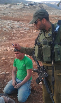 An Israeli soldier in Tawayel