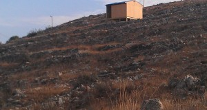 This is the newest settler house to be constructed on what was previously Palestinian farming land (Photo by ISM)