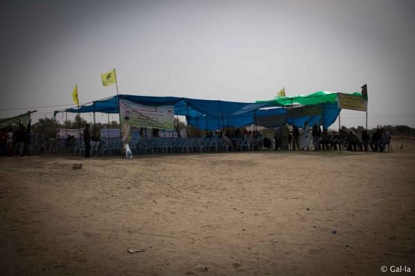 A celebration tent. (Photo by Gal·la López)