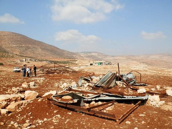 The demolition in Tawayel