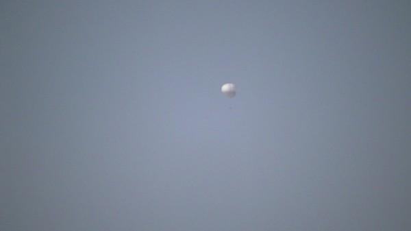 Close-up of surveillance balloon – Beit Hanoun, 6/11/13