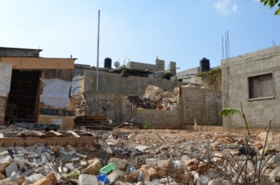 One of the demolished houses (photo by ISM).