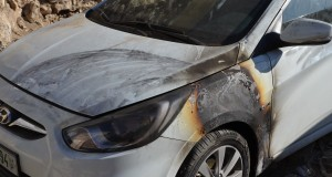 One of the burnt cars (photo by ISM).