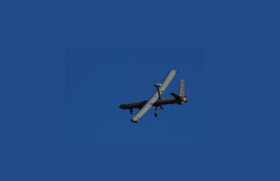 A Hermes 450 drone – manufactured by Elbit (Photo by Corporate Watch)