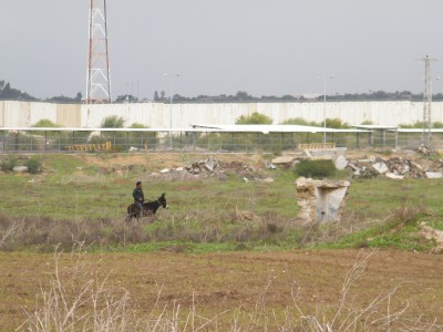 The Beit Hanoun (Erez) checkpoint in the northern Gaza Strip, which controls movement into Israel. (Photo taken by the Beit Hanoun Local Initiative)