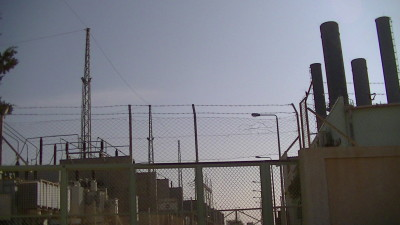 Gaza's power plant, closed due to lack of fuel. Picture taken by Corporate Watch, November 2013