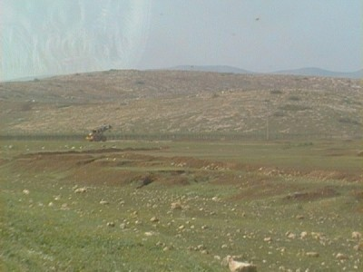 The confiscated land where construction has already begun (photo by ISM).