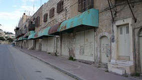 Shuhada Street, closed down to Palestinians.