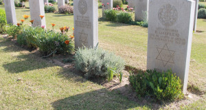 Moshe Dayan sought to exhume the five Jewish graves in the Gaza War Cemetery. (Joe Catron)