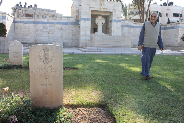 Ibrahim Jeradeh is the Gaza War Cemetery's longtime caretaker. (Joe Catron)