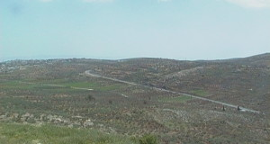 Photograph of Route 505 where the wall will be built (photo by ISM).