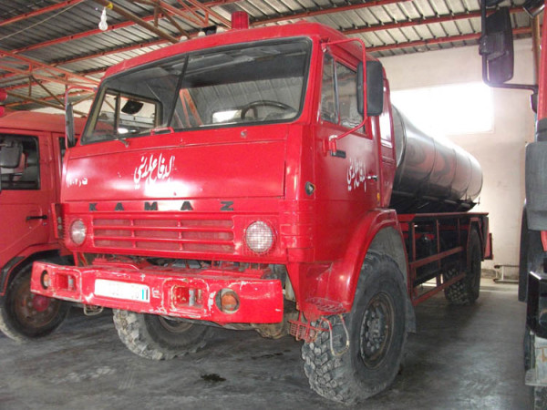 The converted Kamaz truck (Photo by Paramedics in Gaza)