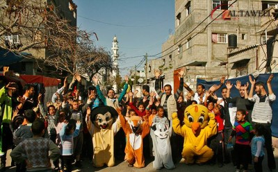 PTC run play group in Gaza – photo PTC Gaza