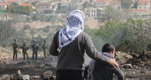 From a Friday demonstration in Kafr Qaddum (photo by ISM).