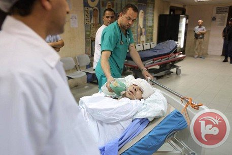 Mustafa Aslan at the hospital before he died from his injuries (photo from Maan News).