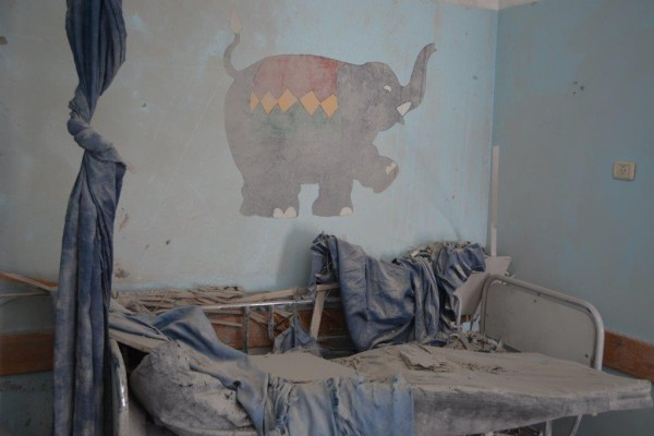 Photo from July 26th of Beit Hanoun hospital, by Charlie Andreasson