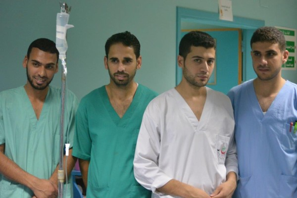 Some of the staff at el-Wafa hospital (Photo by Charlie Andreasson).