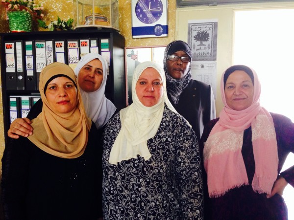 Some members of the Women's Center in Askar refugee camp (photo by ISM).