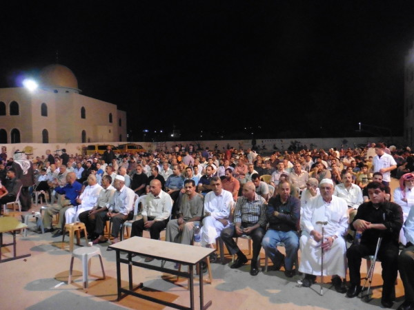 Memorial ceremony for both Khalid and Tayeb (photo by ISM).