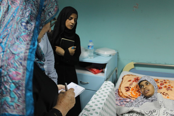 A patient at el-Wafa hospital, photograph taken by Fred Ekblad on July 15th