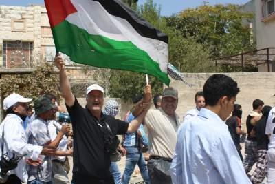 Demonstration in Kufr Qaddum (photo by ISM)