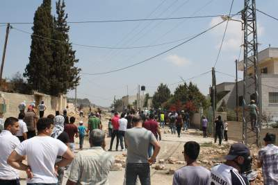 Demonstrators in Kufr Qaddum (photo by ISM)