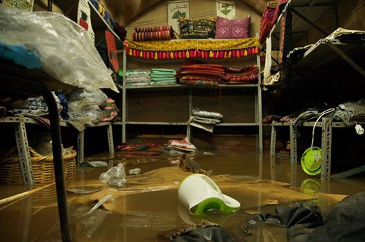 Women in Hebron shop flooded (photo by Women in Hebron).
