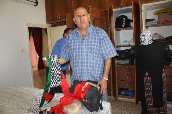 Nothing in Khaled Mansour's flat escaped the soldiers' attention, including these scarfs (photo by ISM).