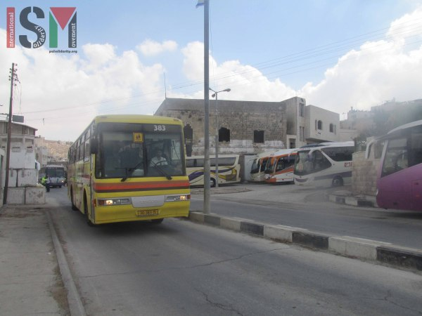 Many tour buses lined up filled with Zionist tourists