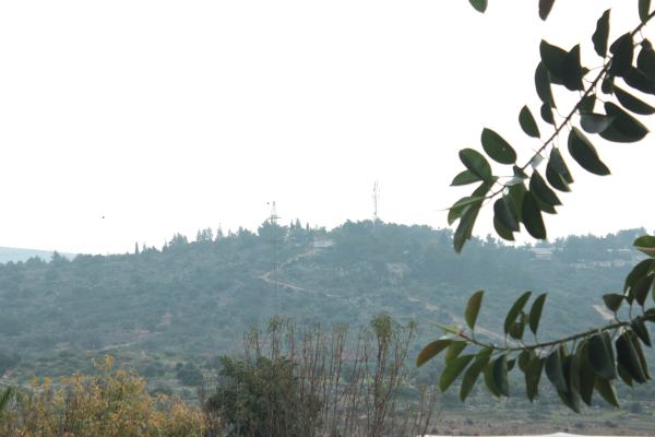 Photo shows the illegal settlement of Ma'ale Shomron, this is the view from the house where the boys were arrested.