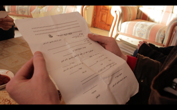 The summons for Nidal and Mohammed (photo by ISM).