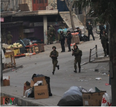 soldiers attacking Bab AlZawiye
