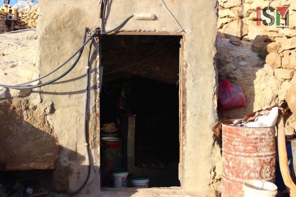 Like many other communities in the South Hebron Hills, people live inside caves.