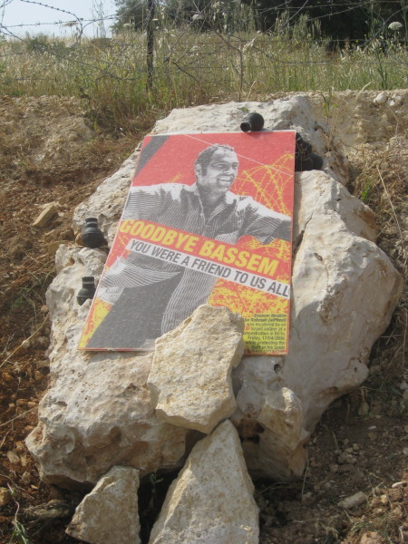 Bassem's grave in Bil'in - photo by ISM