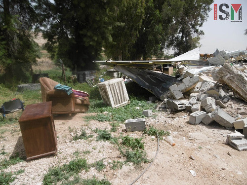 Wreckage of the family homes of Yakub and Mohammed Lahafe Dadoub.