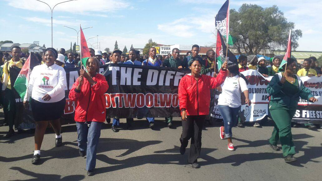 March against Woolworths