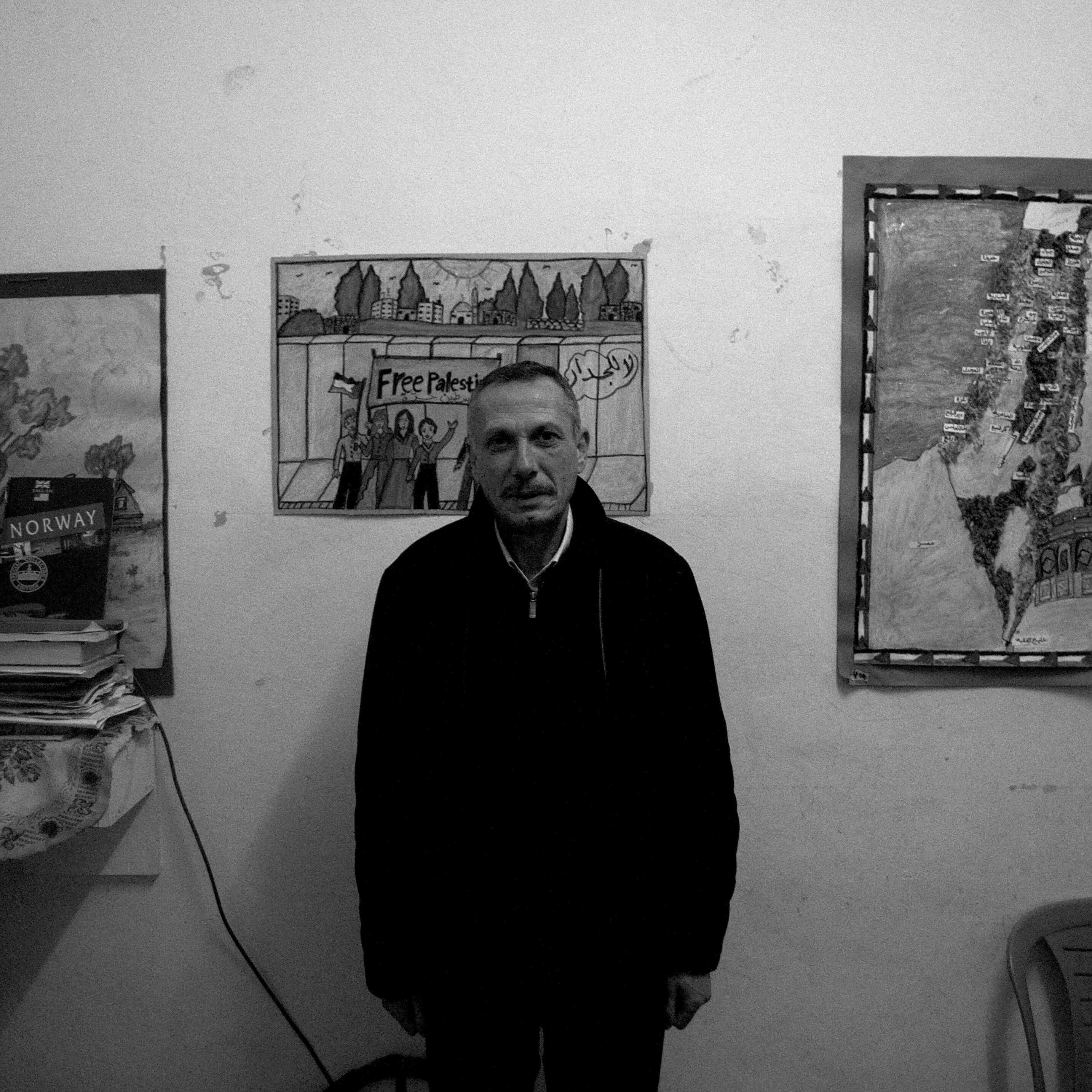 Hashem Azzeh in his home