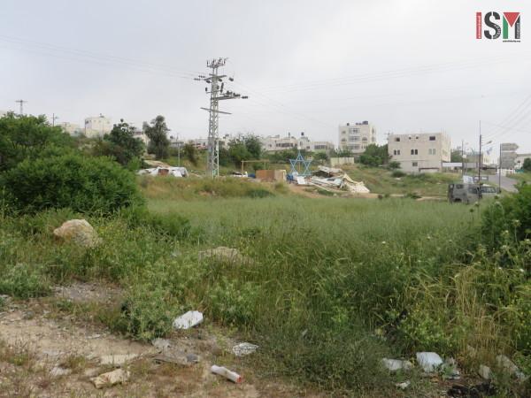 The demolished Synagogue-Tent on the Jabari land