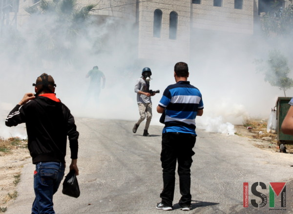 People caught in one round of tear gas amongst many fired in the village.