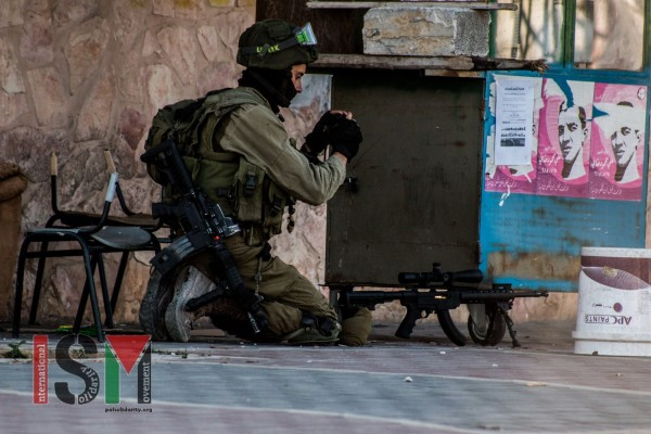 Israeli soldier with sniper rifle