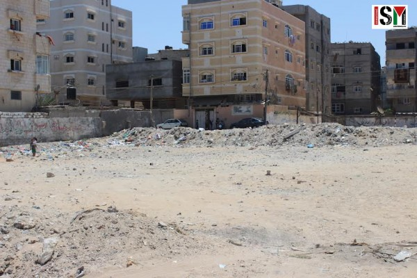 The land bombed next to Mohamed's home.