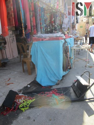 Shop vandalised by extremists