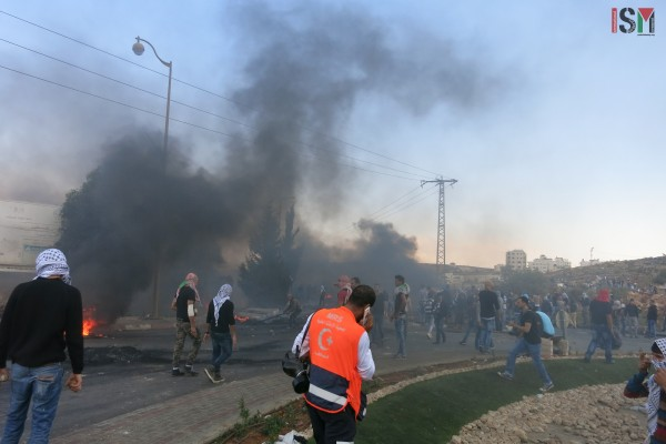 Confrontations raged on during a demonstration near the Beit El settlement