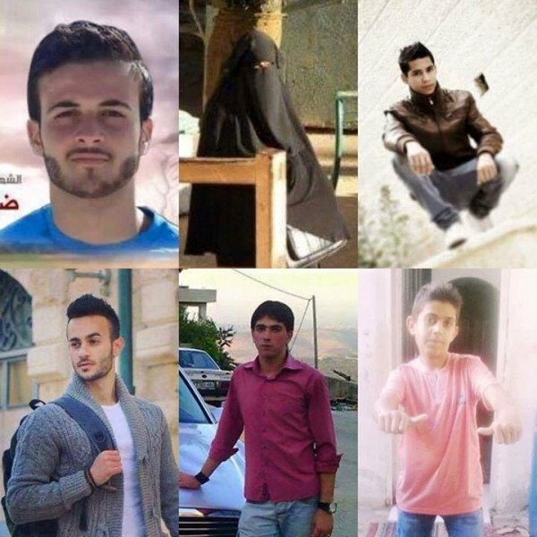 Young Palestinians martyrs recently murdered by Israeli forces.
