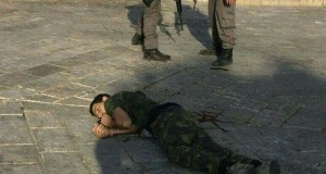 14 year old boy murdered in Jerusalem near Damascus Gate.  Photo Credit: شبكة قدس الإخبارية