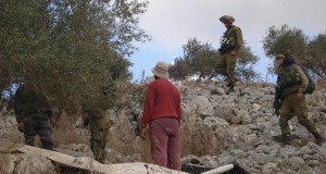Israeli soldiers prevent Ahmad's family from picking their olives