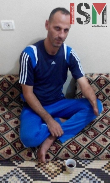 Sami Ali El Goga - fisherman who was attacked by the Israeli navy.
